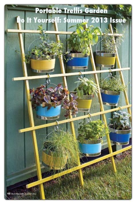 diy hanging garden idea   trellis idea