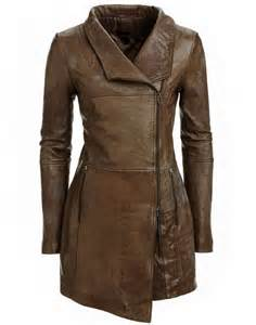 Brown Leather Jackets Woman