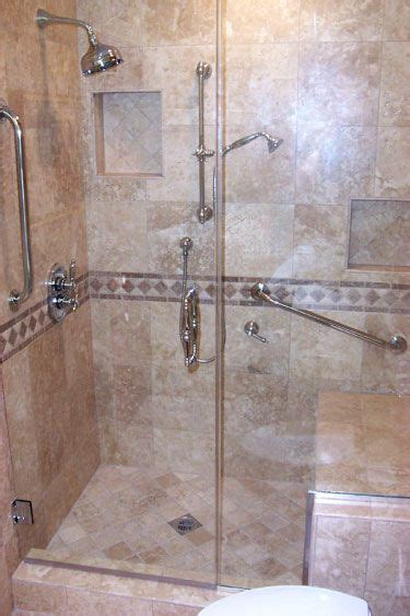3 Shower With Seat by Shower With Seat Beautiful Travertine Walk In Shower