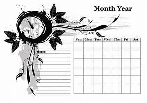 Monthly Calendar Template Microsoft Word Monthly Blank Calendar In Designer Monochrome Free