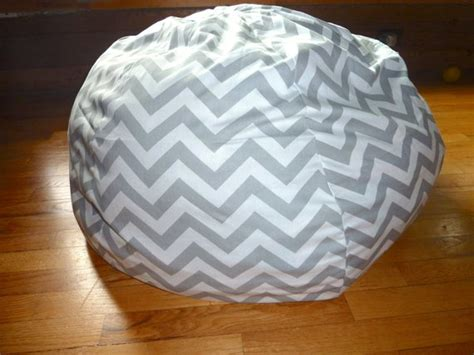 Grey & White Chevron Bean Bag Chair Cover Silver Gray Red Living Room Complete Sets Small Open Kitchen Design Nice Home Interior Decorations Wall Murals For Uk How To Decorate A With Red Couch Theater Dark Blue Sofas Decorating Narrow Rectangular