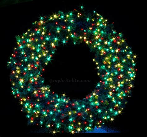 Lighted Christmas Wreaths Outdoor by Pre Lit Wreaths Brite Lite