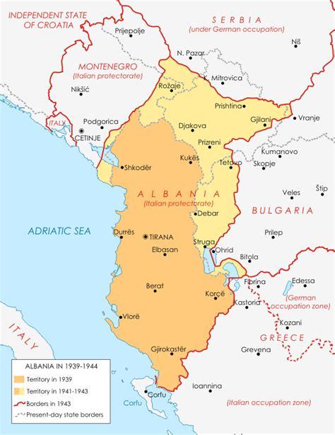 Carte Du Monde Avec L Albanie by Albanie Seconde Guerre Mondiale 1939 1944 Carte