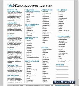 Webmd Healthy Grocery Shopping List  U0026 Guide