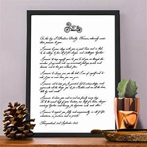 Personalised handwritten love letter wedding vows by for Love letter wedding ceremony
