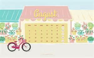 Cute August Calendar 2015