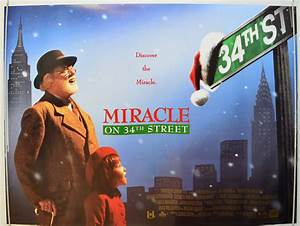 MIRACLE ON 34th STREET 1994 Original Quad Movie Poster ...