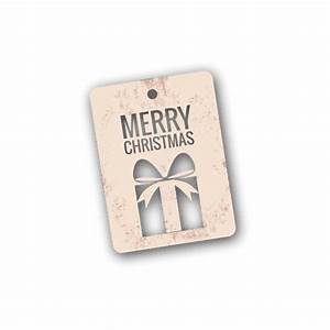 Die cut christmas gift tag - Transparent PNG/SVG