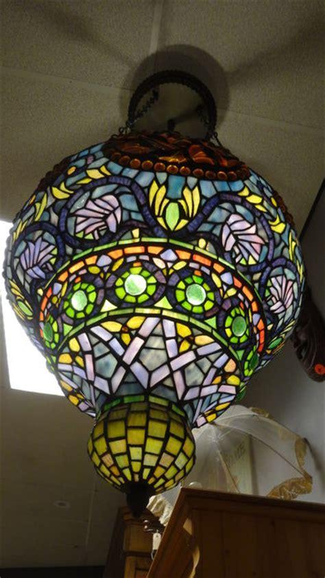 glas  lood tiffany lamp zeer groot model handwerk catawiki