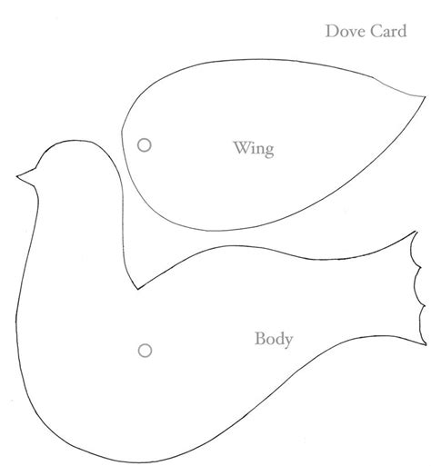 doves face attach wing  body  paper fastener