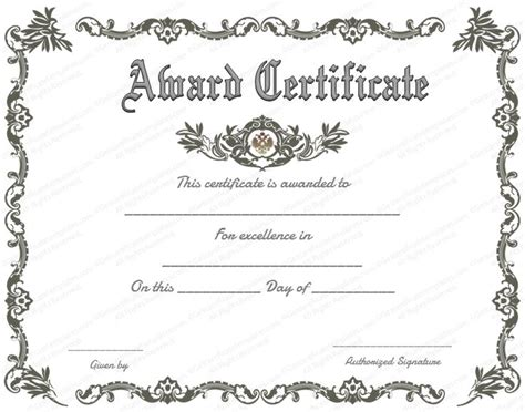 printable certificate  recognition google search