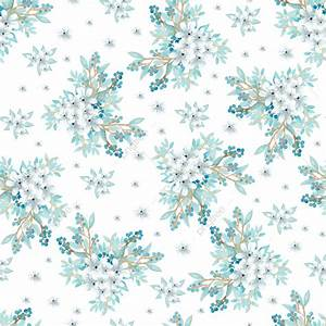 Watercolor Floral Seamless Pattern With Beautiful Blue ...
