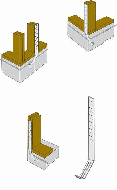 Strap Tie Foundation Concrete Tamlyn Holdowns Wall