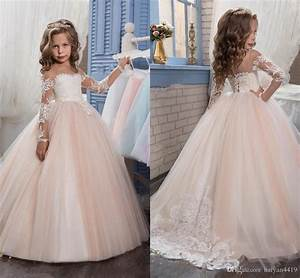 cheap 2017 arabic blush pink flower girls dresses for With girl dresses for weddings