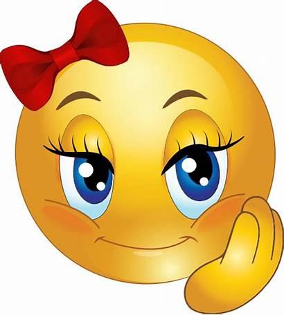 Smiley Pretty Emoticon Clipart Domain Faces Happy