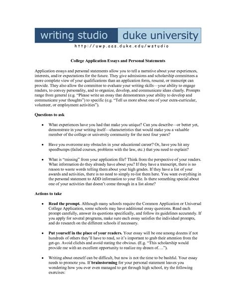 what to write for a college essay how to write a successful personal statement for college