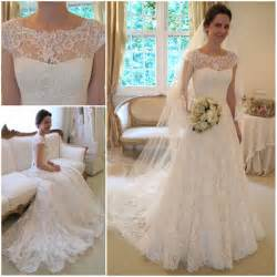 vintage lace sleeve wedding dress 2013 new arrival vestidos de noivas vintage lace wedding dress sleeve for autumn bridal