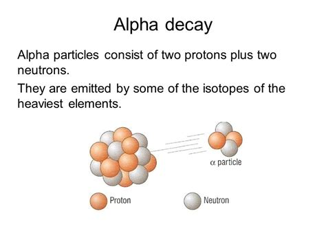 Two Protons And Two Neutrons by Alpha Decay Alpha Particles Consist Of Two Protons Plus