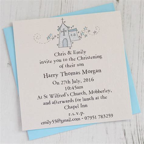 Personalised Christening Invitation Pack By Eggbert