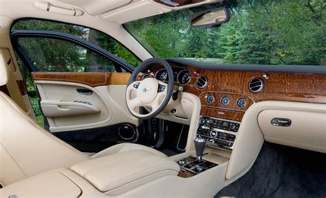 mulsanne bentley interior car and driver