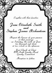 Damask border microsoft word joy studio design gallery for Damask wedding invitations template free