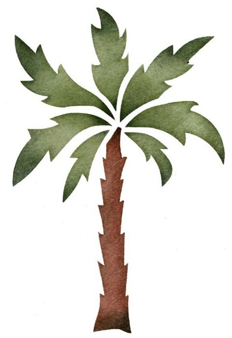 palm tree stencil walltowallstencilscom