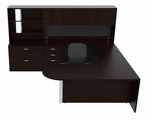 New amber bullet u shape executive office desk with hutch for Office desk with hutch storage