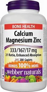Calcium Magnesium Zinc Enhanced Absorption