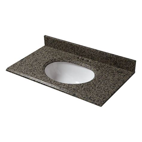 pegasus 37 in x 22 in granite vanity top in quadro with