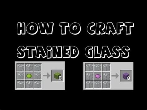 how to craft glass in minecraft minecraft how to make stained glass in minecraft 7782