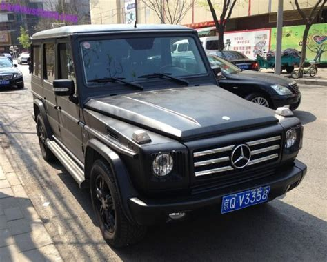 mercedes jeep matte black inside mercedes benz g500 mattschwarz in china fotografiert