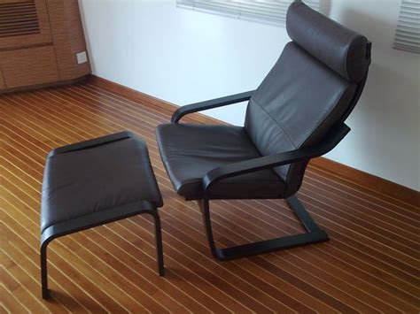 Ikea Leather Chair With Ottoman by Ikea Poang With Ottoman Black Leather Home