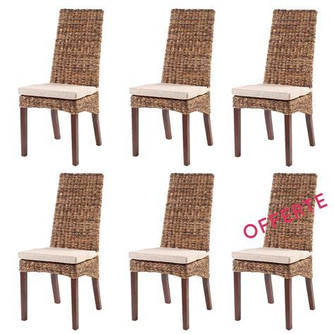 lot chaises de cuisine pas cher chaises en rotin lot 6 chaises en rotin lavezzi rotin design