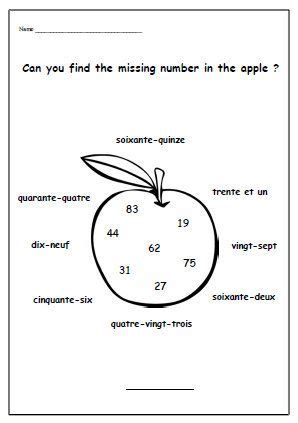 french numbers worksheet primary school worksheet language