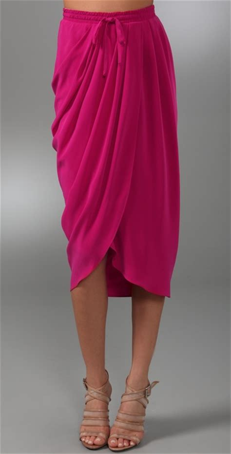 drape front skirt thakoon draped front skirt shopbop