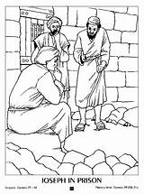 Joseph Coloring Pages Prison Bible Jail Sunday Story Wife Dreams Colouring Crafts Children Egypt Genesis Lessons Silas Paul Prisons Potiphar sketch template