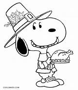 Snoopy Coloring Pages Thanksgiving Printable Halloween Cool2bkids sketch template