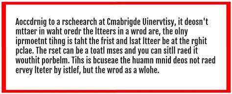 brains  read jumbled words  long