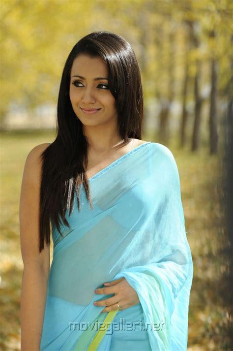 Trisha Hot Stills In Saree Movieadda