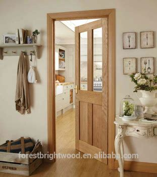 Living Room Door Glass by Living Room White Oak Wooden Door With Clear Tempered