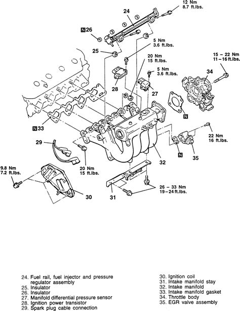 Toyotum 2 4 Engine Intake Manifold Diagram by 1994 Jeep 4wd 4 0l Fi Ohv 6cyl Repair Guides