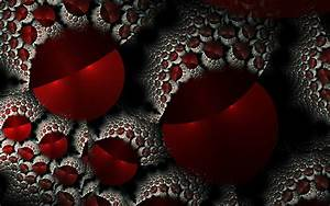 Abstract, Red, Fractals, Fractal, Wallpaper