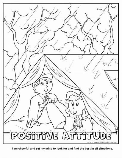 Positive Attitude Coloring Scout Cub Scouts Tiger