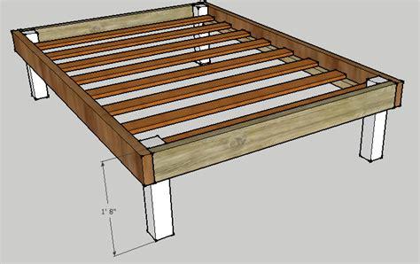 spacious diy platform bed plans suited   cramped