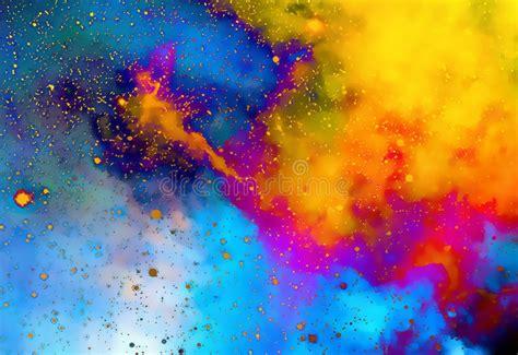 Nevel, Kosmische Ruimte En Sterren, Kleurenachtergrond