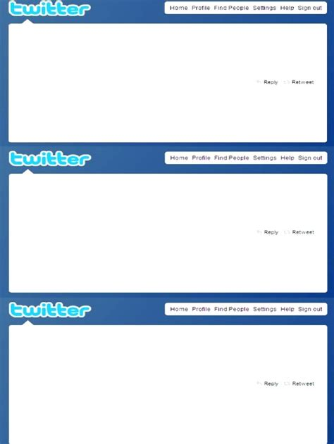 tweet template template blank template for word