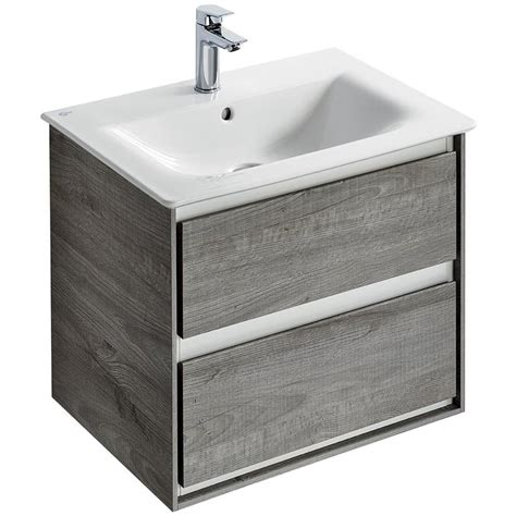 600mm wall hung vanity unit ideal standard concept air 600mm wall hung 2 drawers light