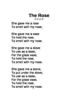 Decodable Poem Long o, a by Amanda Funk   Teachers Pay