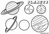 Coloring Planet Pages Planets Space Sheet Print Different sketch template