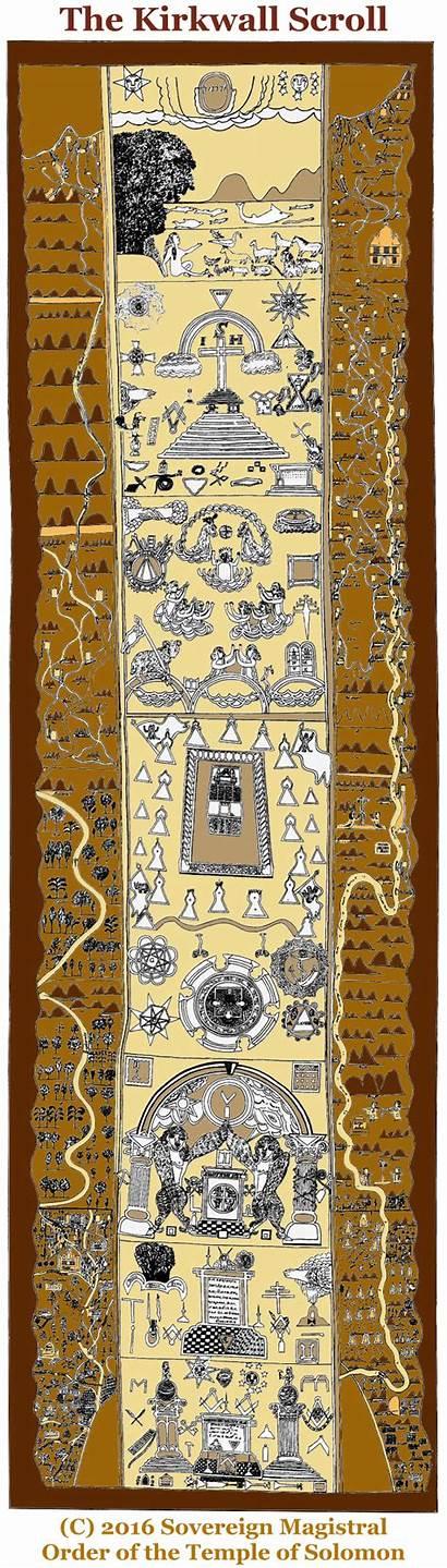Scroll Masonic Kirkwall Lodge Kilwinning 15th England